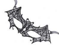 Ladies Black Lace Bat Mask